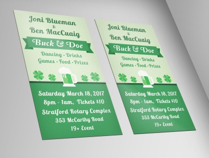 St. Patty's Day Buck and Doe - Ticket Design