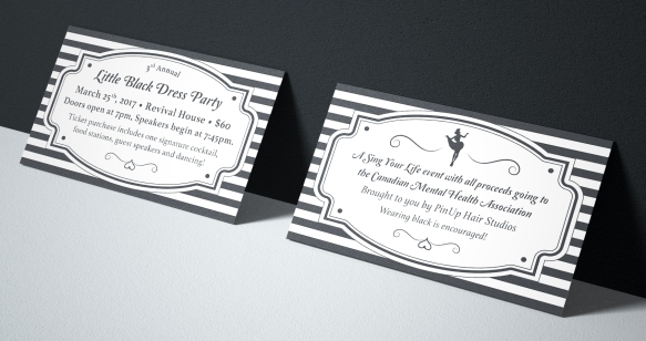Little Black Dress Party - Ticket Design